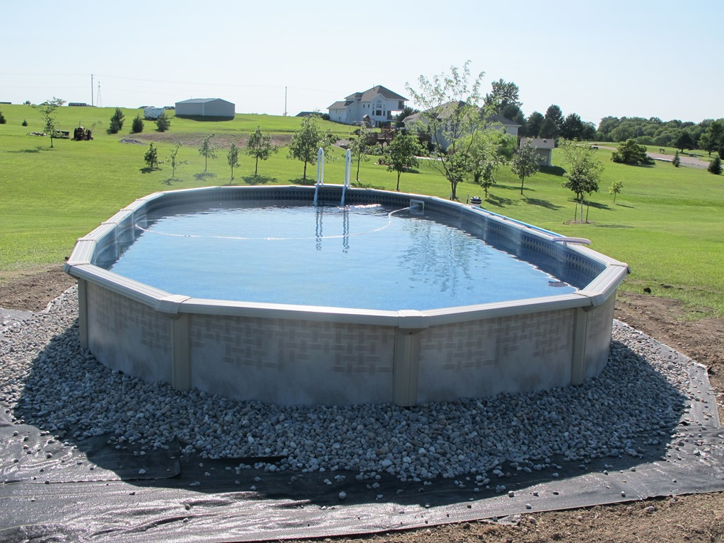 Landscaping Rocks Around Above Ground Pool : Adding an above ground pool john s place